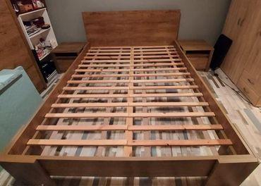 Posteľový rám + 2 ks nočné stolíky VEDDE 160x200