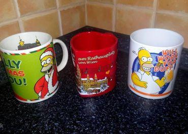 Poháre Simpson + Vianočná Viedeň