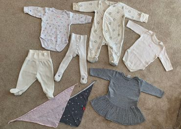 Veľ.62 Set oblečenia pre bábätko Dievčatko (8ks)