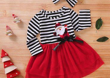 Dievčenské vianočné šaty veľkosť 5/6 rokov