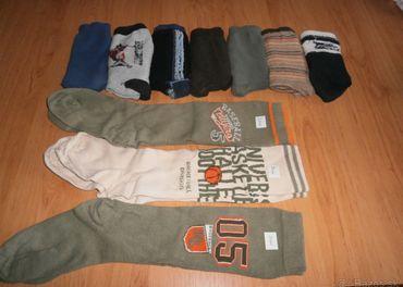 Chlapčenské podkolienky- 3ks a ponožky 7 ks- veľ. 20