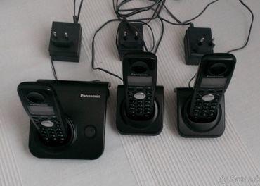 Predám bezdrôtový telefón 3 kusy zn.Panasonic