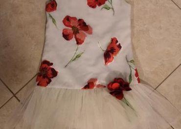 Šaty s kvetovým vzorom detské Wójcik