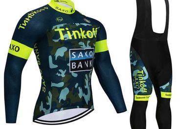 Cyklistycký dres + nohavice 170-185cm Tinkoff saxo