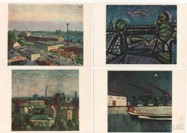 Pohľadnice Bratislava - vytvarné umenie na obrazoch