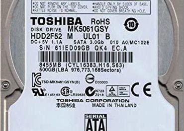 2,5 TOSHIBA Laptop 500GB notebook 7200RPM HDD