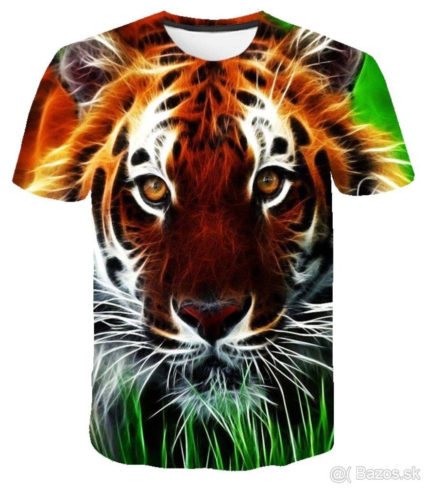 Pánske štýlové tričko s 3D potlačou