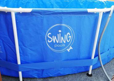 Kovova konstrukcia k bazenu Swing
