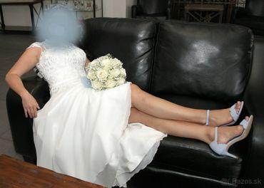 Predám 1x krátko použité krásne značkové svadobné šaty