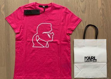 Karl lagerfeld tričko ružové kameo originál