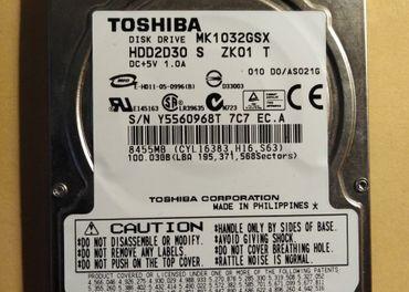2,5 100 GB Toshiba SATA2 9,5 mm 5400 rpm