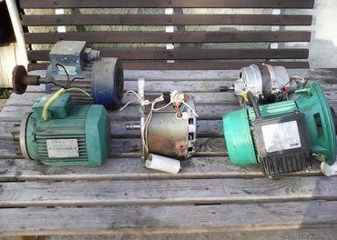 Elektromotory 220V/380V  generatory 220V a 48V,12V motor