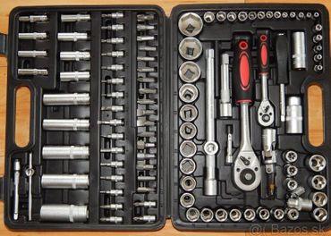 Gola sada 108 kusov nástrčných a zástrčných klúčov chrome