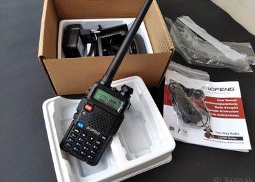 Predám vysielačky Baofeng UV-5R nové dobierka 3 euro