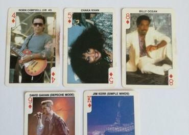 Karty s fotkami spevákov