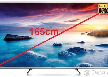 LED TV Panasonic,uhlopriečka 165cm,ako nový, +sklo stolík