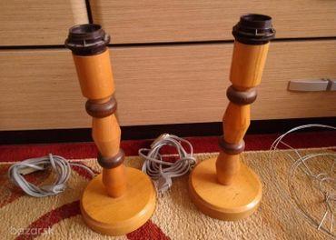 Predám drevené lampy bez tienidiel.