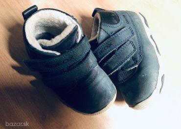 Detské zimné topánky GEOX + ručne šité papučky grá