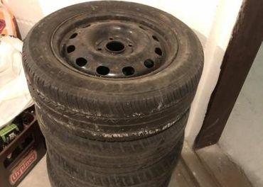 plechové disky 4ks s pneumatikami
