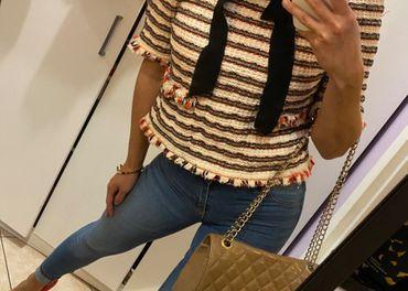 Zara top na štýl Chanel —10€