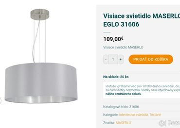 Visiace svietidlo MASERLO – EGLO 31606