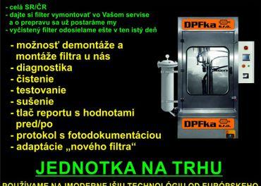 čistenie DPF a FAP filtrov - celá SR aj ČR