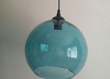 Modrá vysiaca lampa