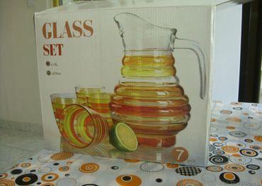 súprava pohárov a krčah