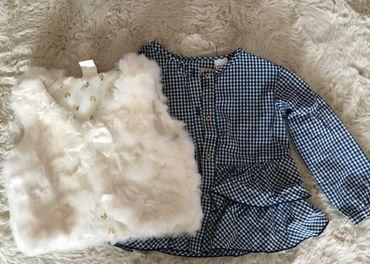 Vestička H&M a košielka Zara, veľkosť 92