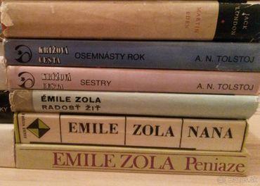 A.N.Tolstoj, Emile Zola, Honoré de Balzac, Jožo Nižnánsky.