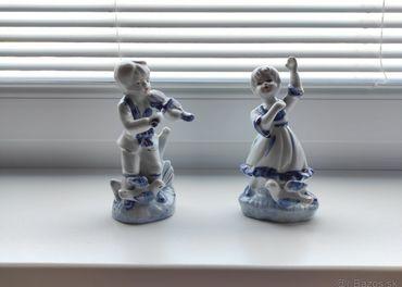Soška muzikanta a tanečnice