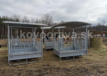 Kŕmidlá ,válovy,ohradové panely ,fixácia dobytka SKLADOM