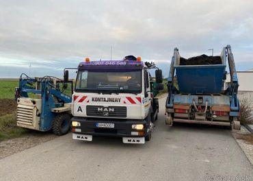 Odvoz odpadu kontajnermi a zemné práce Bratislava a okolie