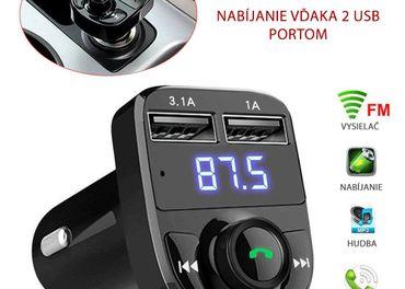 Bluetooth FM transmiter vysielač handsfree do auta