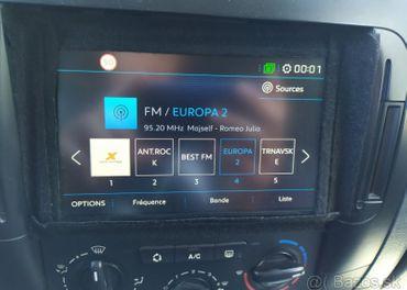 Dotyková navigácia Peugeot, Citroen