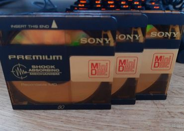 Nezohnatelne MINIDISKY Sony premium 3ks