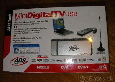 Mini Digital TV USB + magnetik anténa na univerzálne použiti