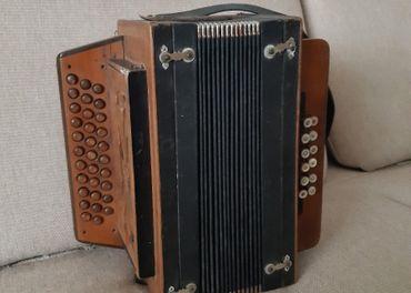 Harmonika Heligonka Rofschuber Drevo Raritná na opravu