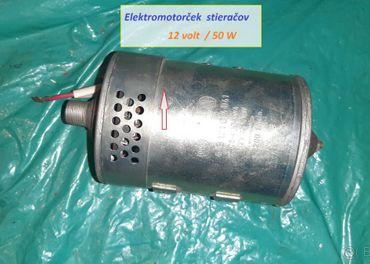 elektro motor stieračov 12 V   ,, 24 V