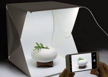 Fotobox s osvetlením 45x44x43cm + 4 pozadia