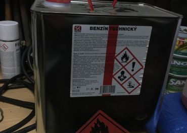 Technicky benzín, riedidlo