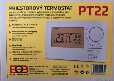 Predám priestorový termostat PT22