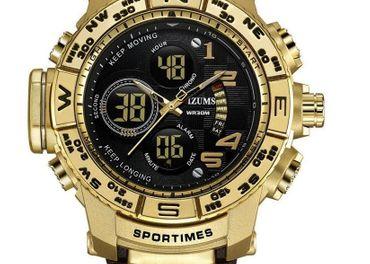 Nové pánske hodinky MIZUMS 3  Zlaté, dobierka v cene