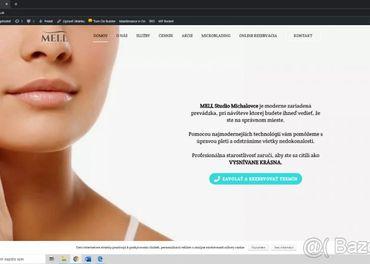 Webstránka pre kozmetický salón
