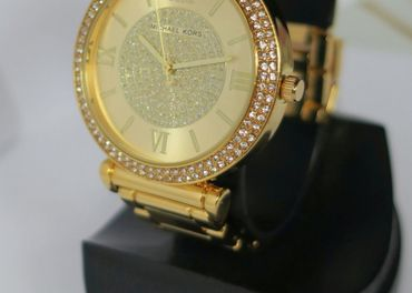 Nové nádherné Michael Kors hodinky - gold