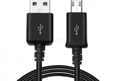 dátový a nabíjací kábel mikro USB samec na USB samec 1 m