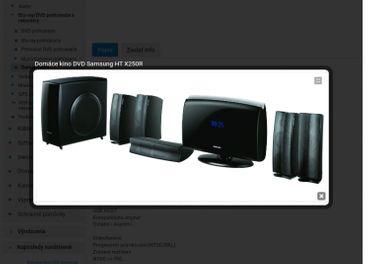 Domáce kino DVD Samsung HT X250R