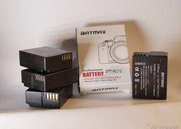 Predám 4x batérie DMW-BLC12 (BATMAX) + nabíjačka zdarma