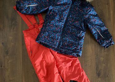 Zimná bunda+otepľovačky Tchibo veľ. 110/116