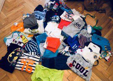 Veľké množstvo oblečenia chlapec 5-7 rokov.